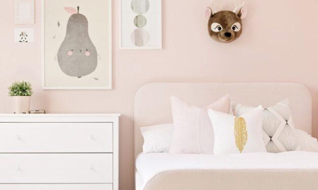 Preciosas habitaciones infantiles en rosa empolvado