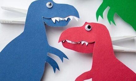 DIY infantil: un dinosaurio con dientes
