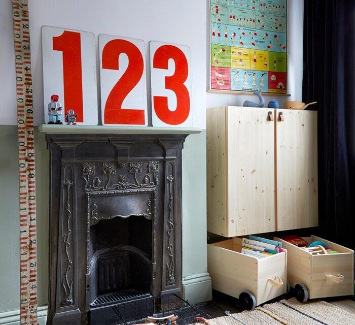 Una habitación infantil fresca con toques vintage