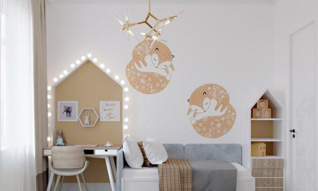 Habitación infantil pequeña y funcional