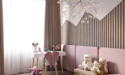 Habitacion infantil con rosa y unicornios