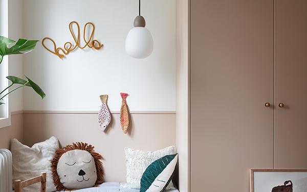 La iluminación perfecta para una habitación infantil.