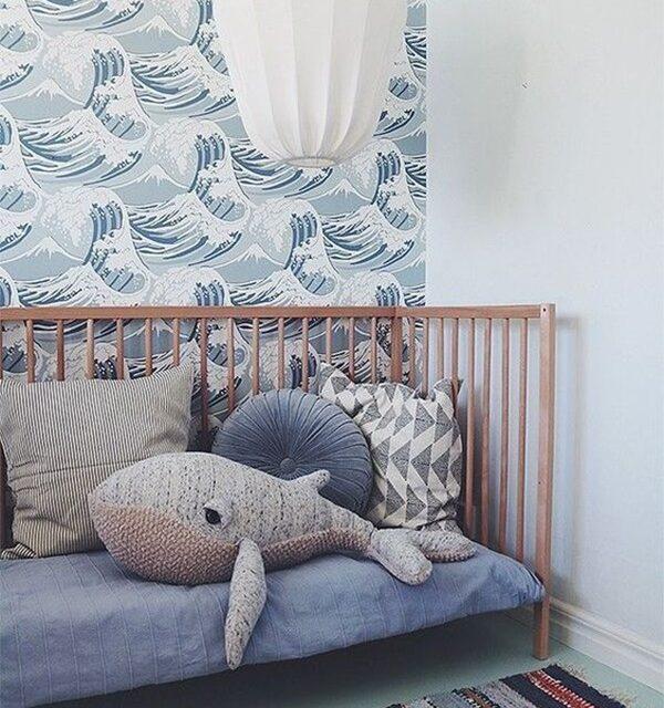 Decoración infantil con ballenas