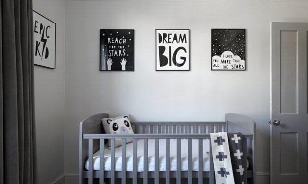 Habitaciones del bebé en gris