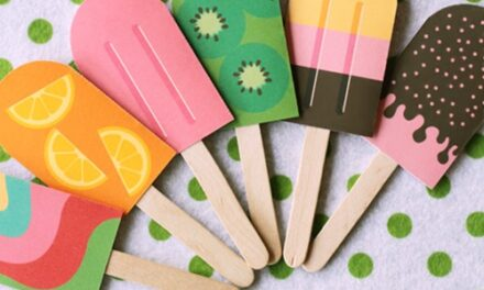Manualidades para jugar: pareja de helados