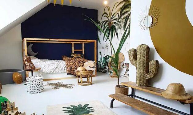 Una habitación compartida llena de color