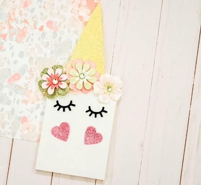 DIY infantil: cuaderno unicornio