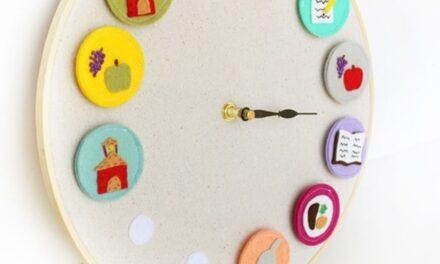 Manualidades infantiles: un reloj de tareas para niños
