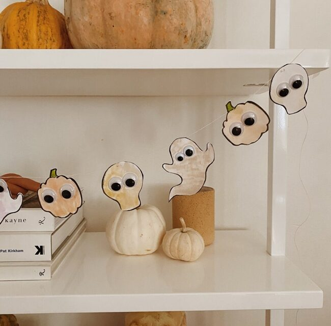 Manualidad de Halloween para niños: una guirnalda terrorífica