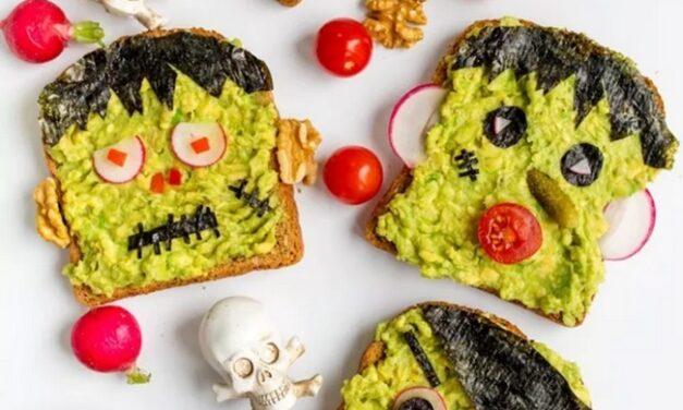 Sándwiches y bocaditos de Halloween